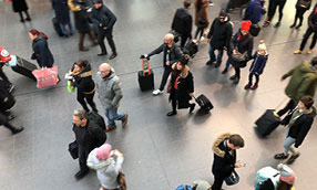 Crowded public area
