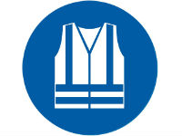 Wear high visibility clothing sign