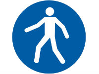 Pedestrian route sign