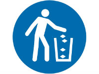Use litter bin sign