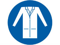 Wear laboratory coat sign