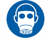 Wear respiratory protection sign