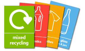 WRAP Recycling Signs