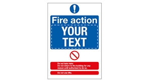 Custom Fire Action Notices