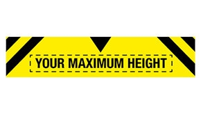 Custom Maximum Height Traffic Signs