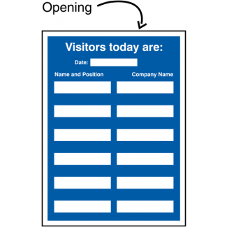 Visitors Today Update Sign