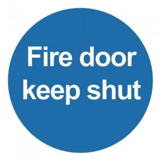 Blue Fire Door Keep Shut Sign
