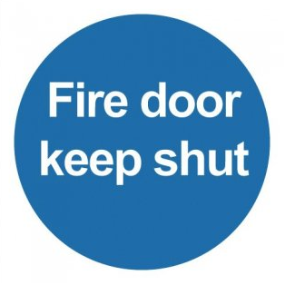 Fire Door Keep Shut Signs