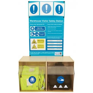 Warehouse Visitor PPE Safety Station
