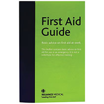 Leaflet which contains basic advice for first aid