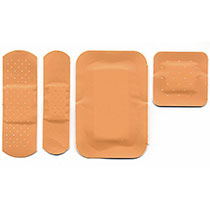The most common sizes of washproof plasters