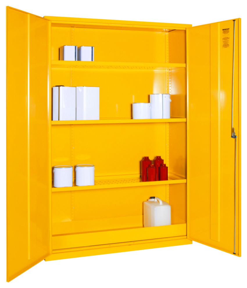Yellow Flammable Cabinet Dangerous Flammable Substance Coshh Storage Cabinets Seton Uk