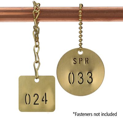 Brass Valve Tags