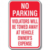 Tow Away Parking Lot Signs
