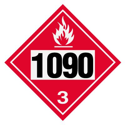1090 Acetone - DOT Placards