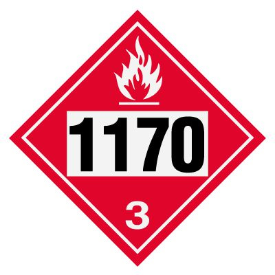1170 Ethanol, Ethyl Alcohol - DOT Placards