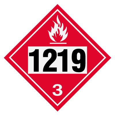 1219 Isopropanol - DOT Placards