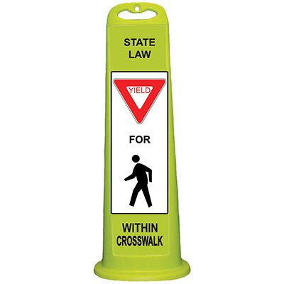 Trailblazer Vertical Panel - State Law Yield for Pedestrian Within Crosswalk