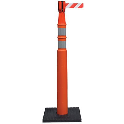EZ Grab Delux Stackable Delineator with Base and Cone Topper Barrier
