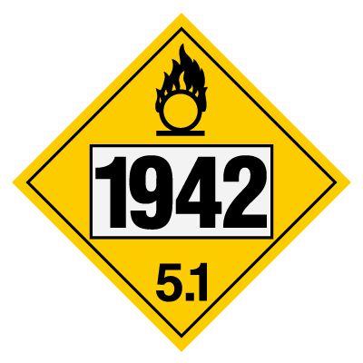 1942 Ammonium Nitrate - DOT Placards