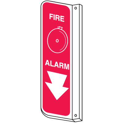 Fire Alarm 2-Way View Fire Safety Signs