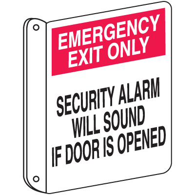 2-Way View Fire Safety Signs - Emergency Exit Only