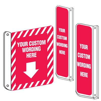 Custom 2-Way View Fire Safety Signs