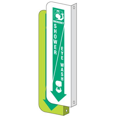2-Way View Emergency Shower/Eye Wash Sign