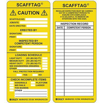 Caution Scafftag Insert