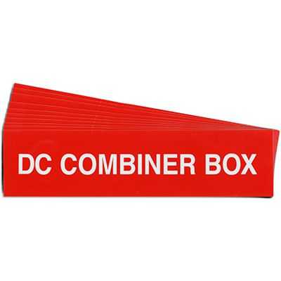 DC Combiner Box Solar Warning Labels