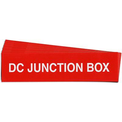 DC Junction Box Solar Warning Labels