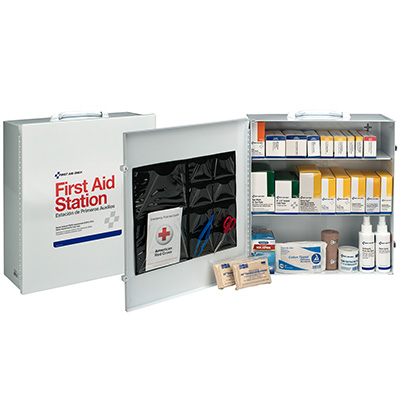 100-Person First Aid Steel Cabinet (3 Shelves)