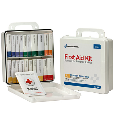 50-Person Unitized Plastic First Aid Kit