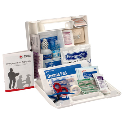 25 Person First Aid Kit, Plastic Case