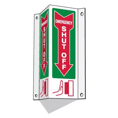 3-Way Emergency Shutoff Sign