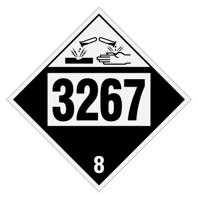 3267 Corrosive Liquid, Basic, Organic - DOT Placards