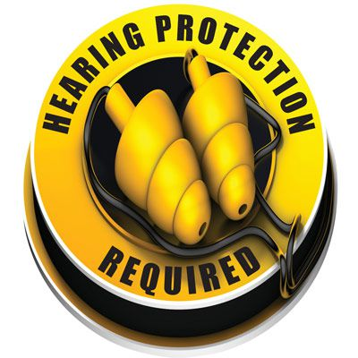 3D Floor Marker - Hearing Protection Required