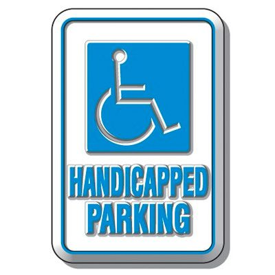 3D Parking Signs - Handicapped Parking (With Graphic)