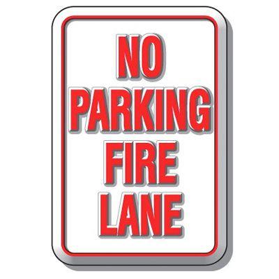 3D Parking Signs - No Parking Fire Lane