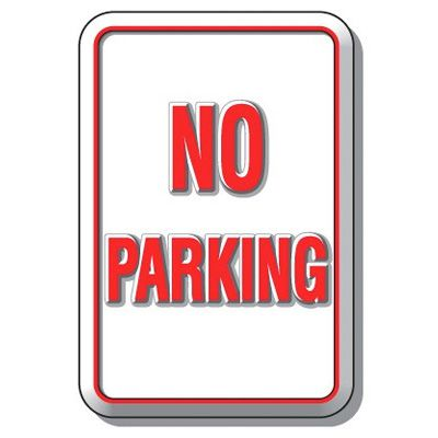 3D Parking Signs - No Parking