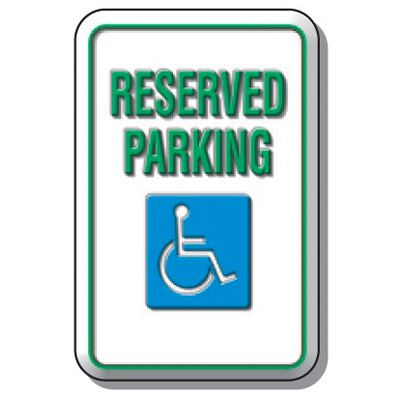 3D Parking Signs - Reserved Parking (With Graphic)