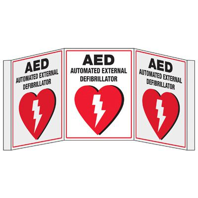 3D Projection Signs - AED Automated External Defibrillator