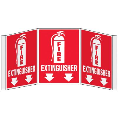 3D Projection Signs - Fire Extinguisher