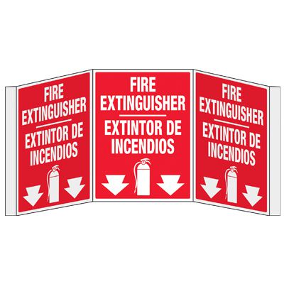 3D Projection Signs - Fire Extinguisher (Bilingual)