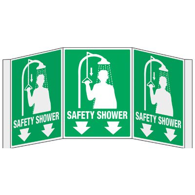3D Projection Signs - Safety Shower