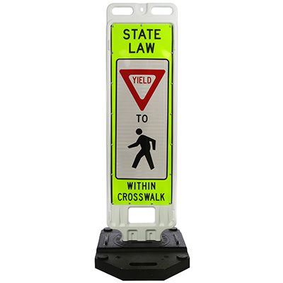 TrafFix Devices State Law Yield to Pedestrians Within Crosswalk Safety Signs