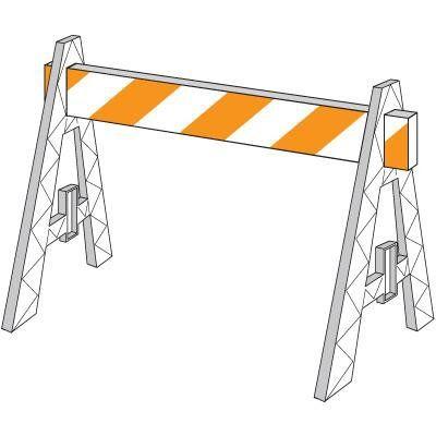 A-Frame Barricade/2-Sided 8Ft