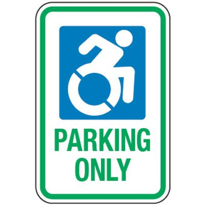 Accessible Parking Symbol Signs - Accessible Parking Only