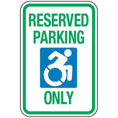 Accessible Parking Symbol Signs - Reserved Parking Only