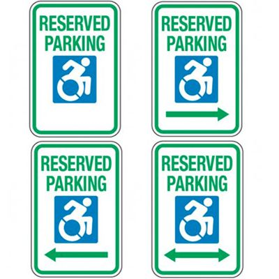Accessible Parking Symbol Signs - Reserved Parking